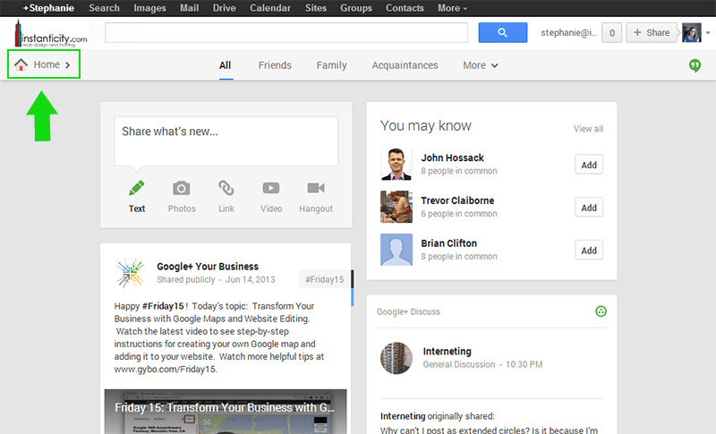Turn off Google+ Notifications